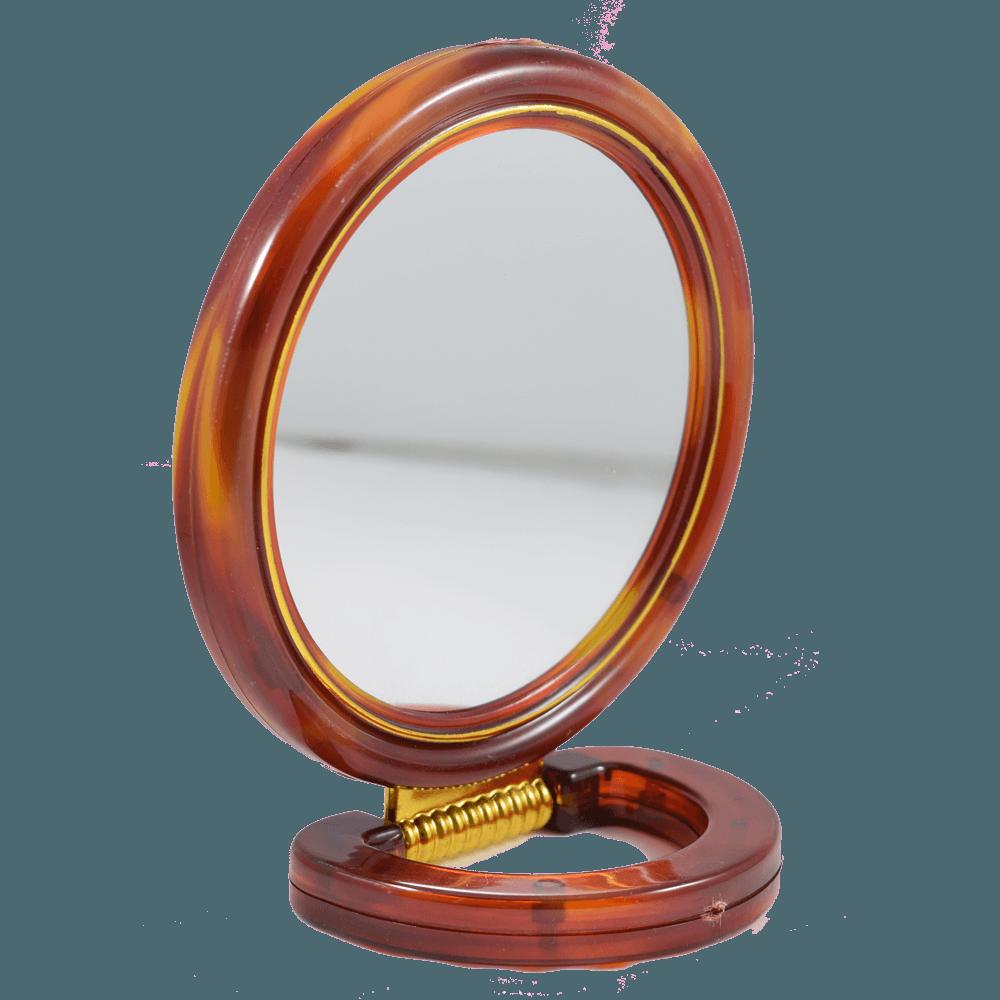 Espejo de apoyo con aumento y base